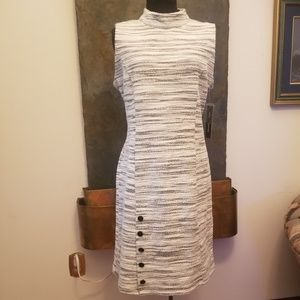 NWT Sharagano Mock Neck Sleeveless Dress - Sz 14